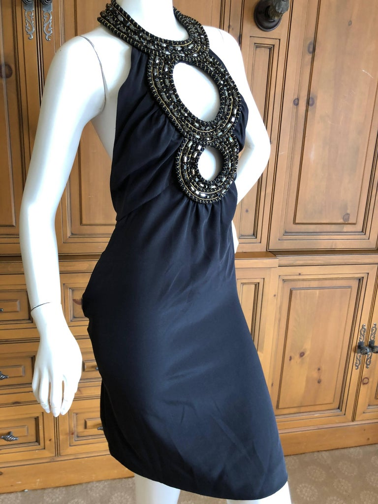 Azzaro Iconic Keyhole Backless Dress with Crystal and Cording Details For Sale 1