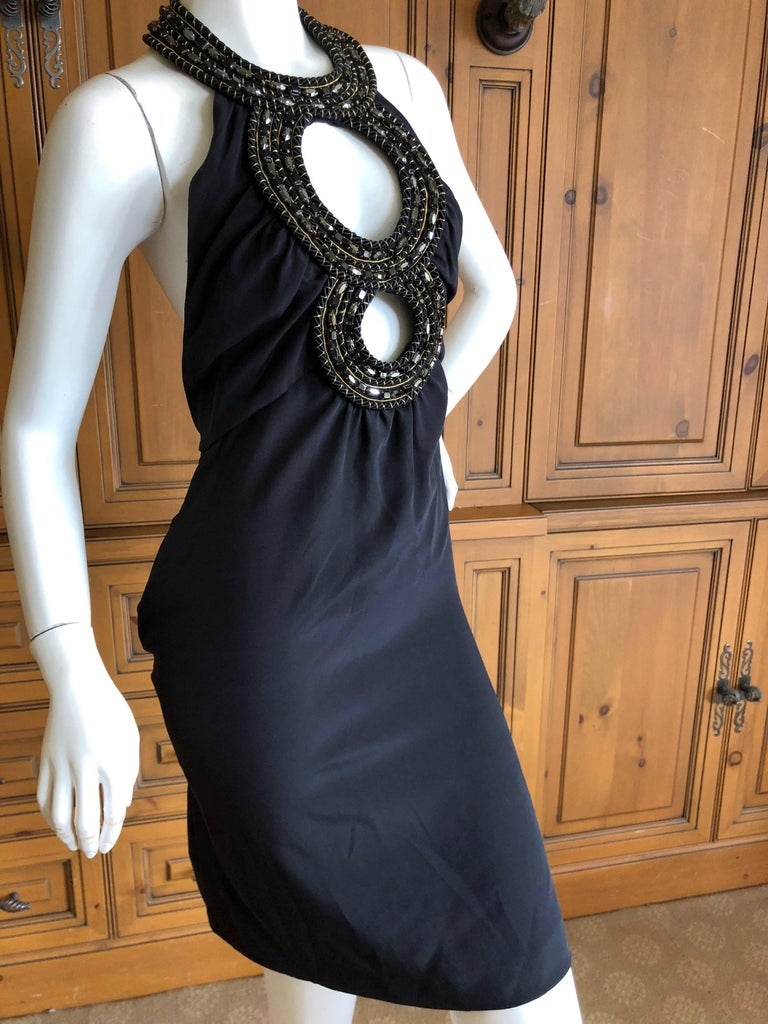 Azzaro Iconic Keyhole Backless Dress with Crystal and Cording Details For Sale 2