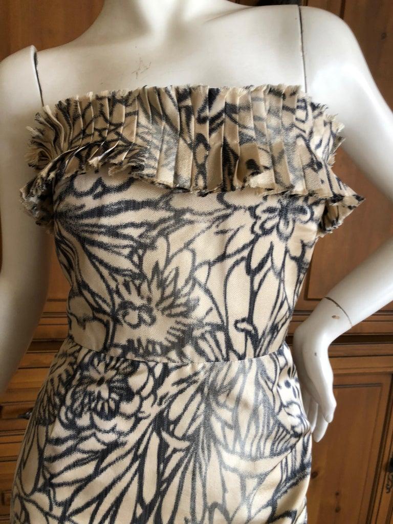 Women's Oscar de la Renta for Bergdorf Goodman Strapless Silk Evening Dress with Shawl For Sale