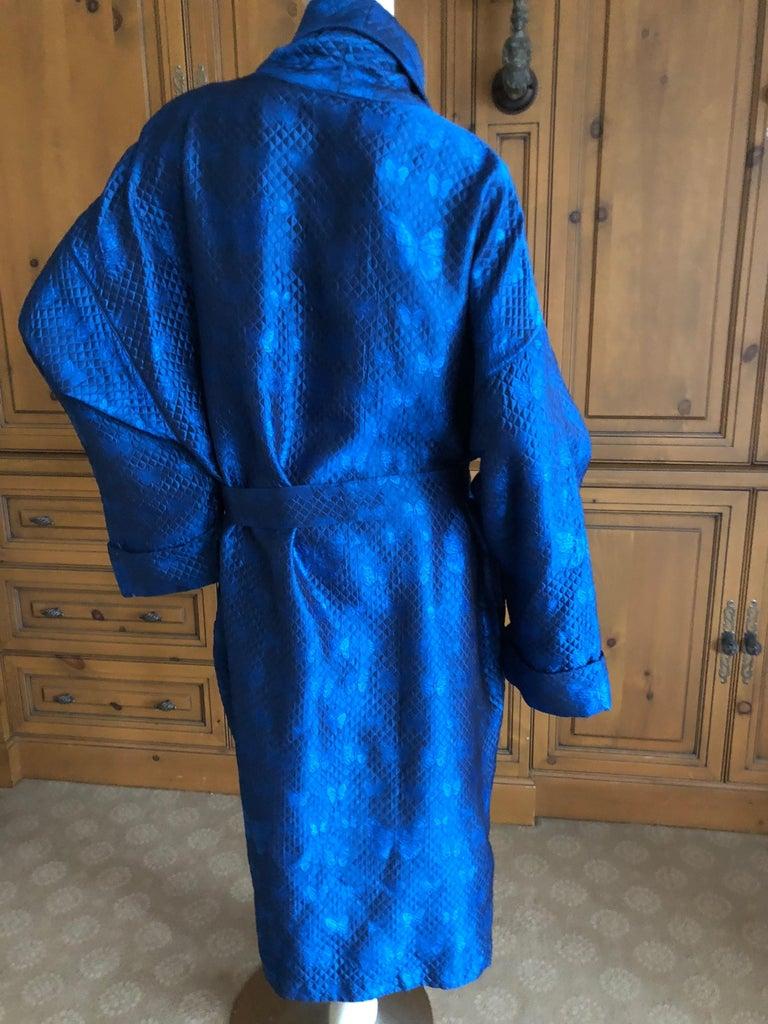 Women's or Men's  Gianni Versace Intimo 1980's Silk Butterfly Pattern Brocade Robe w Fringe Belt For Sale