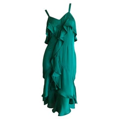 Yves Saint Laurent Tom Ford Fall 2003 Look 1 Green Ruffle Dress New with Tags