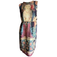 Vivienne Tam Vintage Silk Chakra Buddha Dress