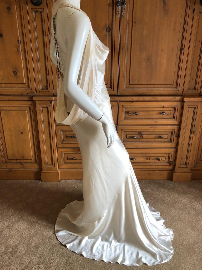 Alexander McQueen Daring Ivory Duchesse Silk Satin Evening or Wedding Dress For Sale 4