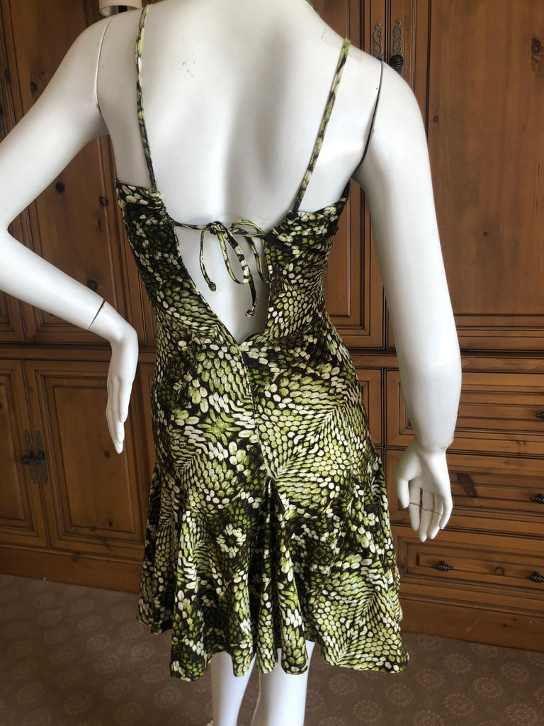 Just Cavalli by Roberto Cavalli Sweet Reptile Print Mini Dress This is so  pretty, the. Gold ... a972bc9845