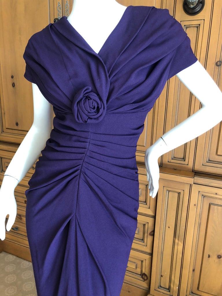 Women's Christian Dior by John Galliano Purple Vintage Silk Lined Evening Dress w Shawl For Sale