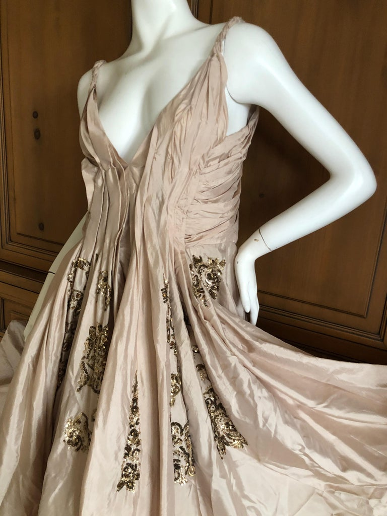 Dior by John Galliano S/S 2007 Voluminous Balloon Evening Dress w Sequin Flowers For Sale 1