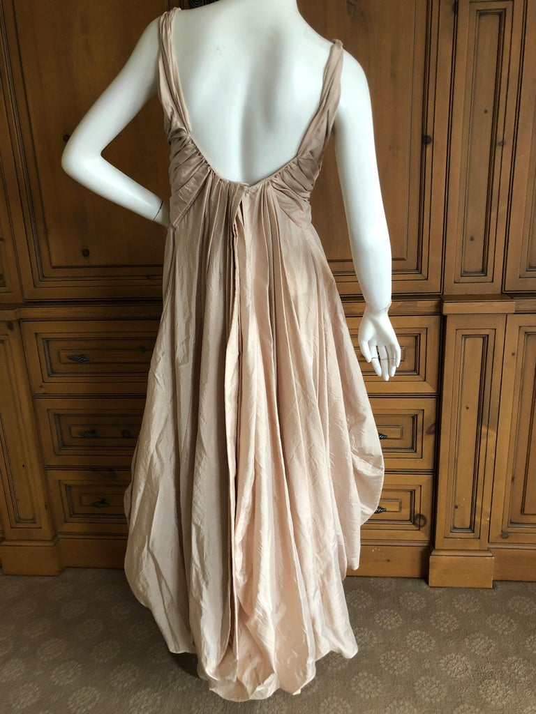 Dior by John Galliano S/S 2007 Voluminous Balloon Evening Dress w Sequin Flowers For Sale 3