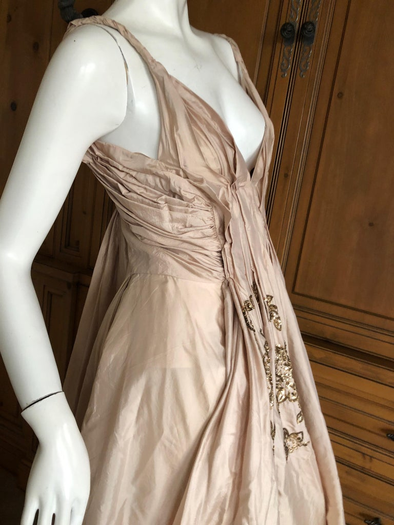 Dior by John Galliano S/S 2007 Voluminous Balloon Evening Dress w Sequin Flowers For Sale 4