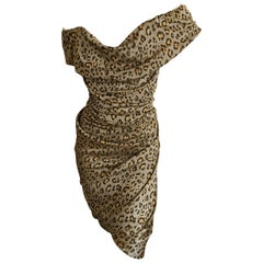 Vivienne Westwood Red Label Leopard Print Dress with Built In Corset