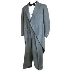 1941 Men's Gray Formal Cutaway Tailcoat Suit Dunne & Co.