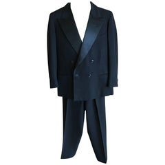 1936 Gentleman's Peak Satin Lapel Tuxedo from Society Tailor F.L. Dunne & Co. NY