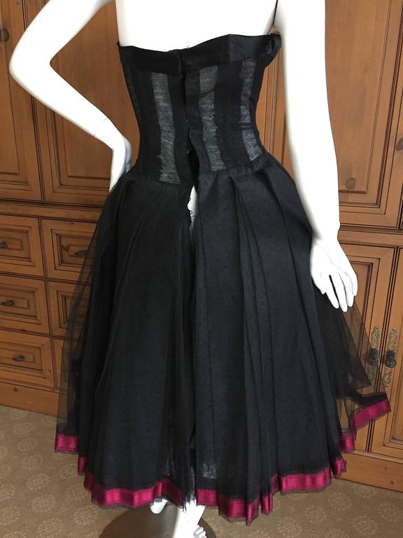 Christian DIor Attr A' 1954 Haute Couture Tulle Boned Bustier Under Dress 5