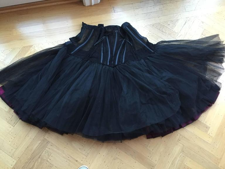 Christian DIor Attr A' 1954 Haute Couture Tulle Boned Bustier Under Dress For Sale 4