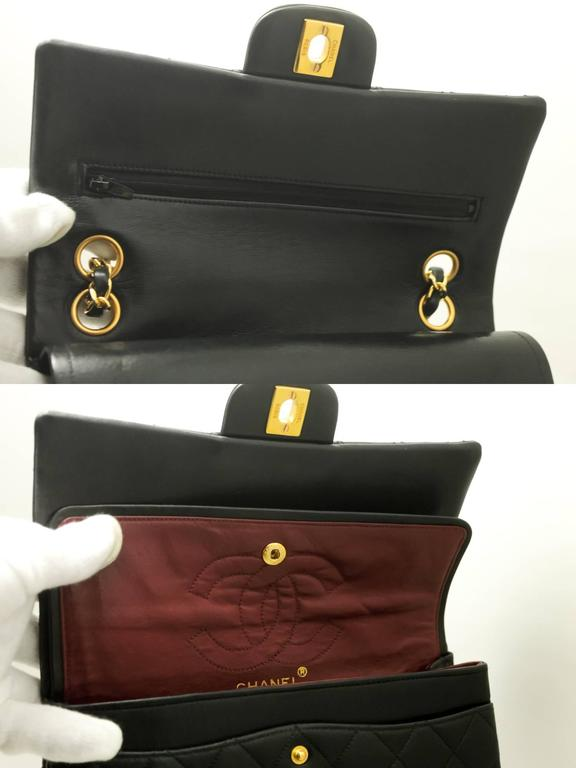 823ebcabb5a Black Authentic Vintage CHANEL 2.55 Double Flap Classic Small Chain  Shoulder Bag 994 For Sale