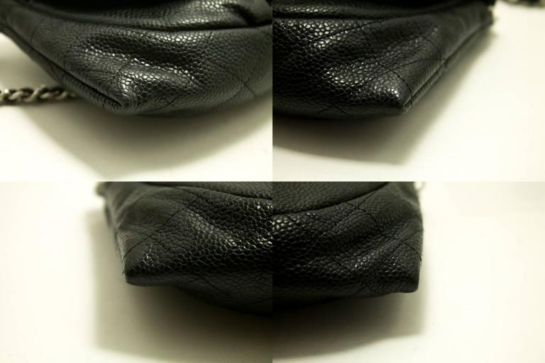 Authentic CHANEL Caviar Half Moon WOC Wallet On Chain Clutch Shoulder Bag f05 7
