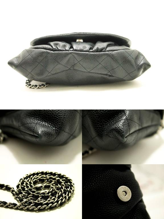 Women's CHANEL Caviar Half Moon WOC Wallet On Chain Clutch Shoulder Bag  For Sale