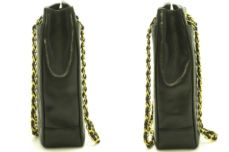 CHANEL Lambskin Gold Chain Shoulder Bag Black Quilted Leather CC  In Good Condition For Sale In Takamatsu-shi, JP