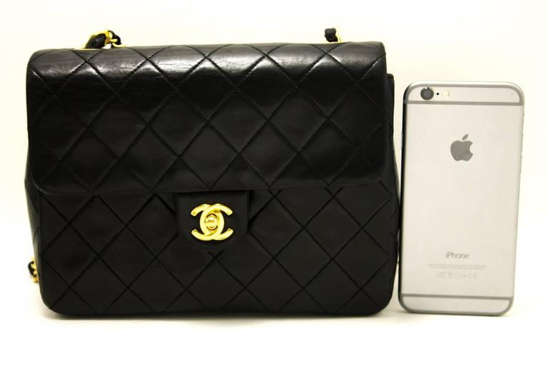 CHANEL Mini Small Chain Shoulder Bag Crossbody Black Quilted Flap  2