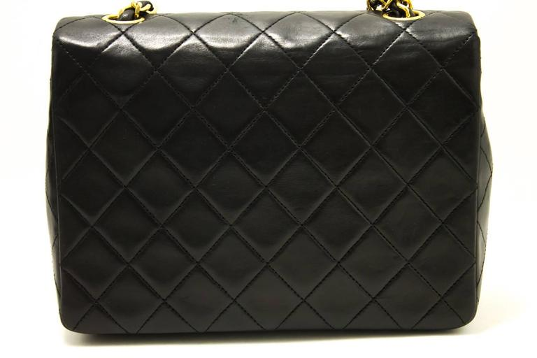 CHANEL Mini Small Chain Shoulder Bag Crossbody Black Quilted Flap  3