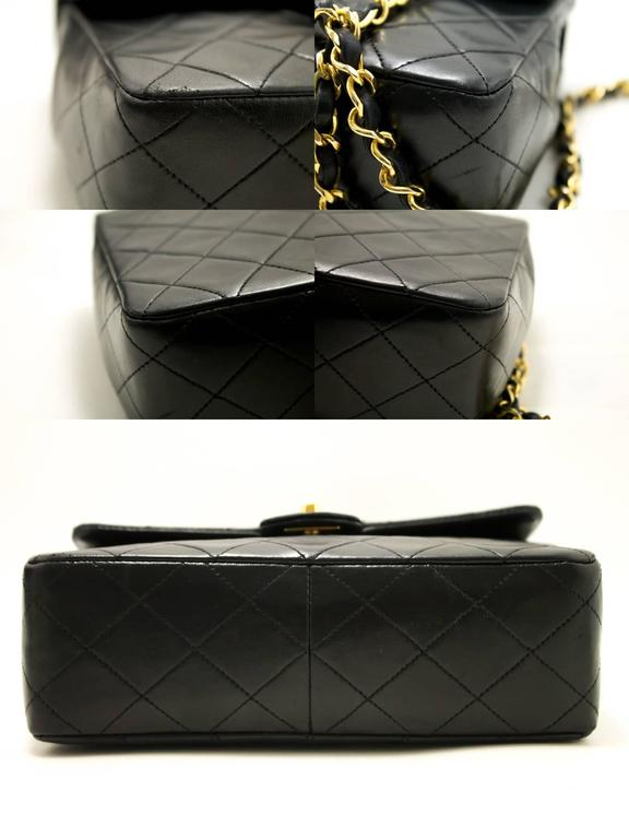 CHANEL Mini Small Chain Shoulder Bag Crossbody Black Quilted Flap  4