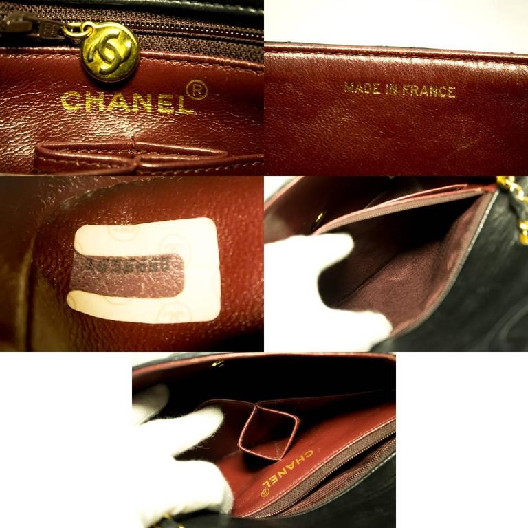 CHANEL Mini Small Chain Shoulder Bag Crossbody Black Quilted Flap  6