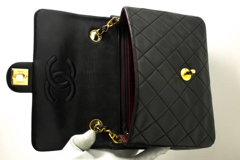 CHANEL Mini Small Chain Shoulder Bag Crossbody Black Quilted Flap  8