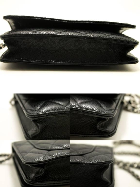 6fb9f55885c0 Chanel Caviar Wallet On Chain Woc Black Shoulder Bag Crossbody Sv ...