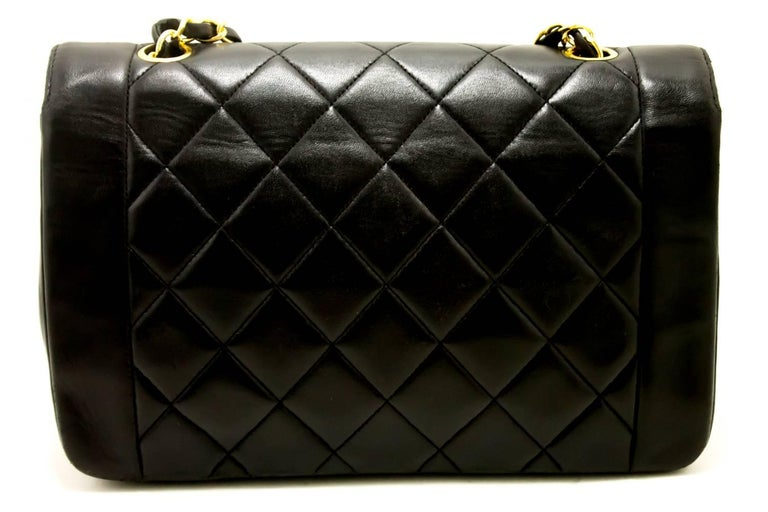 CHANEL Chain Shoulder Bag Crossbody Black Quilted Single Flap Lamb In Good Condition For Sale In Takamatsu-shi, JP