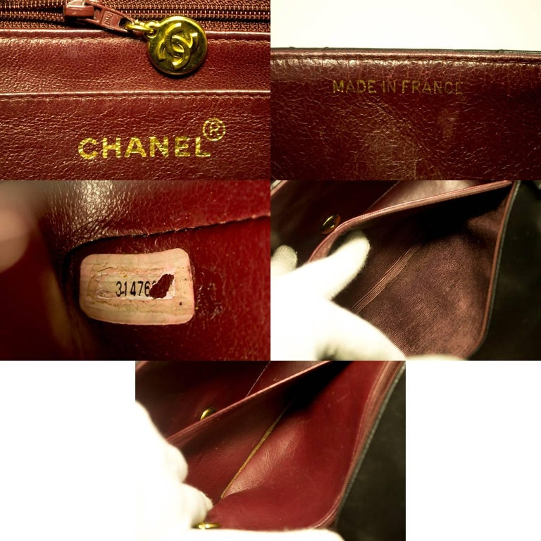 CHANEL Chain Shoulder Bag Crossbody Black Quilted Single Flap Lamb For Sale 4