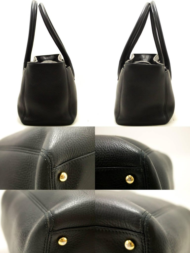 4c8656001783 Women s CHANEL Executive Tote 2014 Caviar Shoulder Bag Black Gold Leather  For Sale
