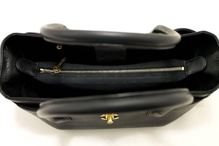 5bebb545ac17 CHANEL Executive Tote 2014 Caviar Shoulder Bag Black Gold Leather For Sale 4