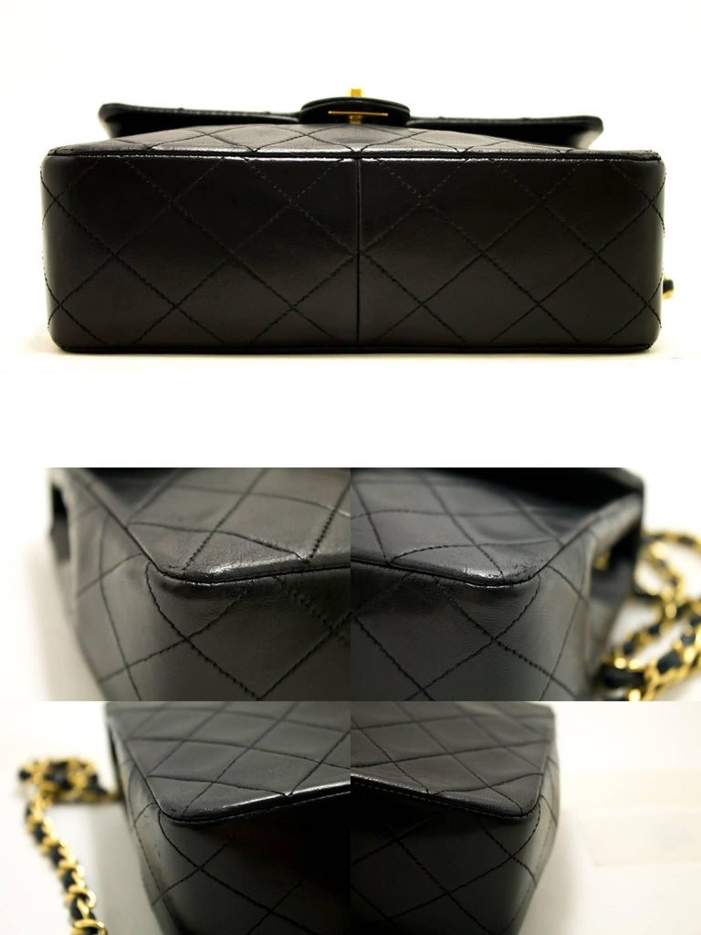 CHANEL Mini Small Chain Shoulder Bag Crossbody Black Quilted Flap For Sale 1