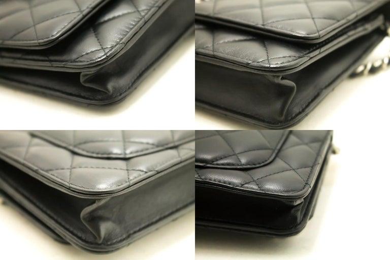 3940f768ebec64 CHANEL Black Wallet On Chain WOC Shoulder Bag Crossbody Clutch For Sale 2