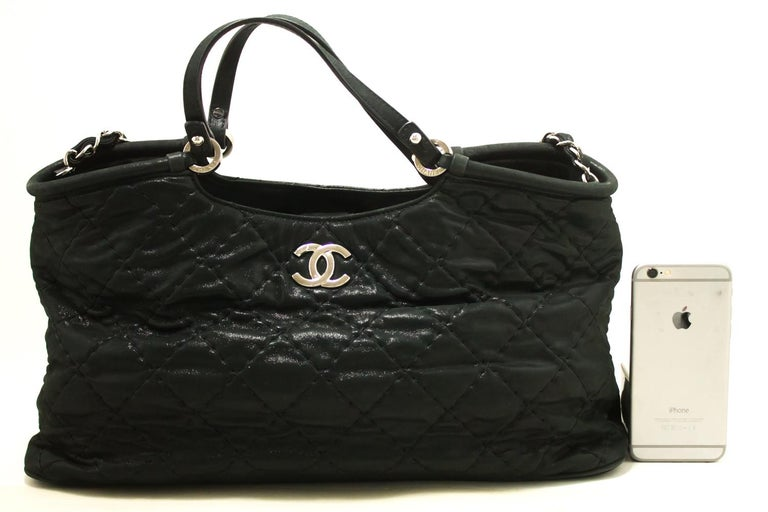 aa5a49a401b8 An authentic CHANEL 2 Way 2012 Chain Shoulder Bag Handbag Black Quilted  Coated. The color