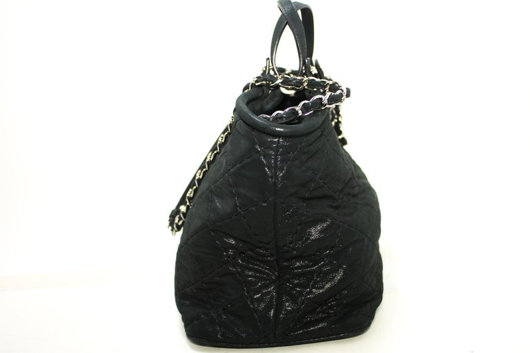 f1ac01794258 CHANEL 2 Way 2012 Chain Shoulder Bag Handbag Black Quilted Coated For Sale 1