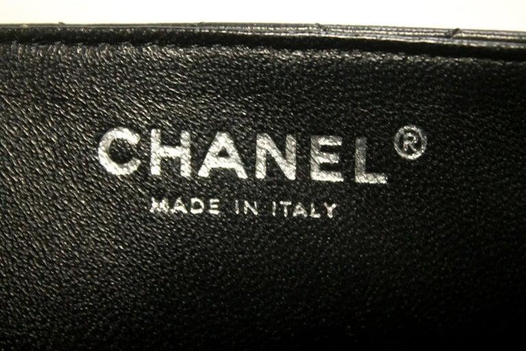 2786db8e45fdb CHANEL 25cm Kette Umhängetasche schwarz gesteppt einzelne Lasche Leder SV 18