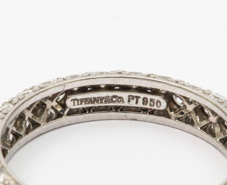 Art Deco Tiffany Diamond Etoile Eternity Band For Sale