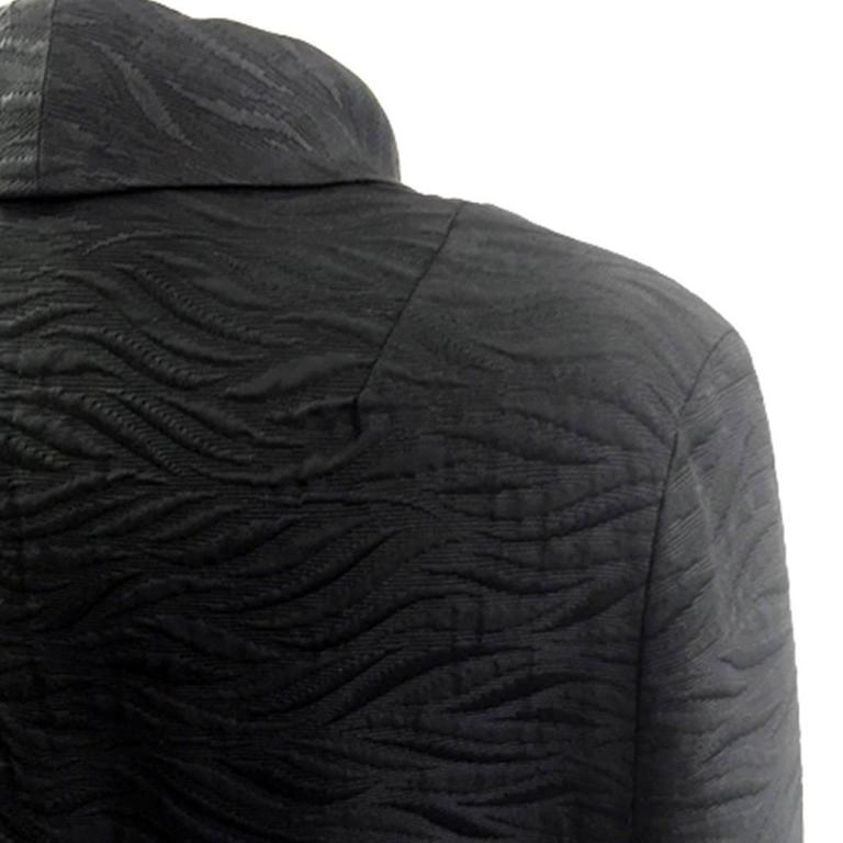1960's Harrods Black Silk Rayon Cloque' Opera Cloak, Floor Length  6