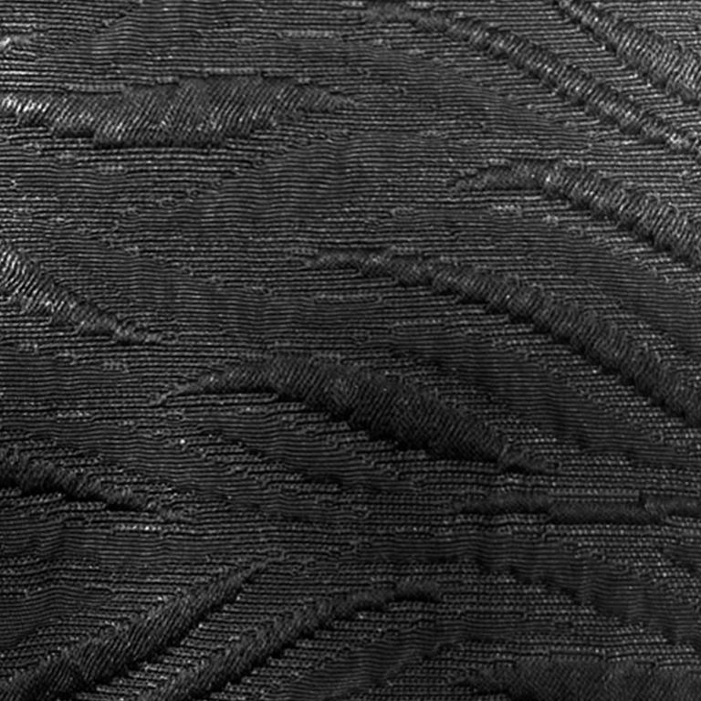 1960's Harrods Black Silk Rayon Cloque' Opera Cloak, Floor Length  8