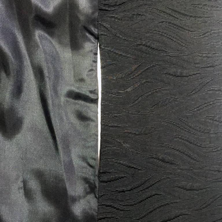 1960's Harrods Black Silk Rayon Cloque' Opera Cloak, Floor Length  9