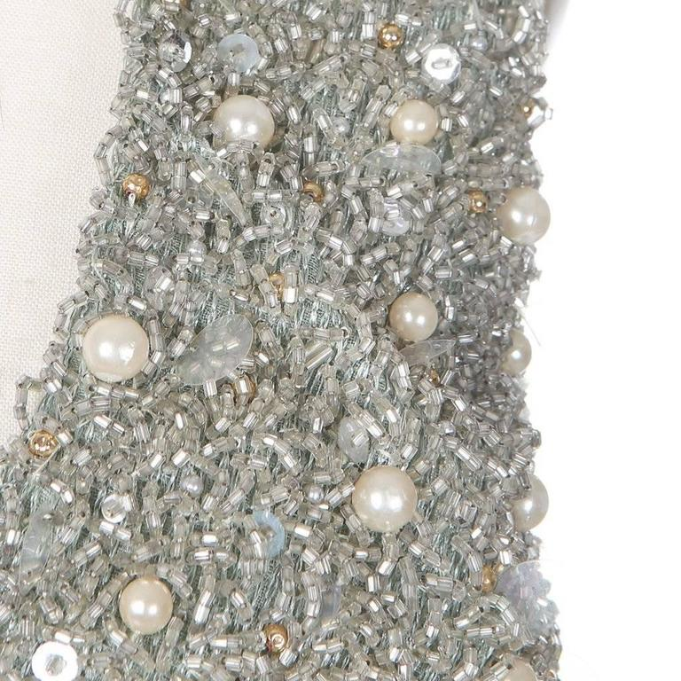 Women's Jacques Fath Embellished Halter Dress with Jacket circa 1980s For Sale
