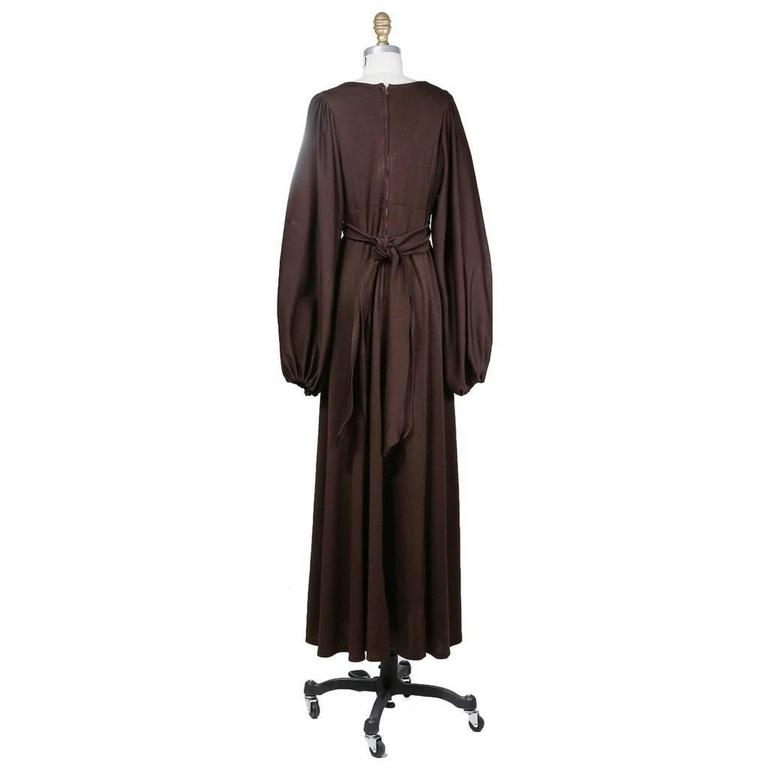 Ossie Clark Jersey Peasant Dress circa 1970s 2
