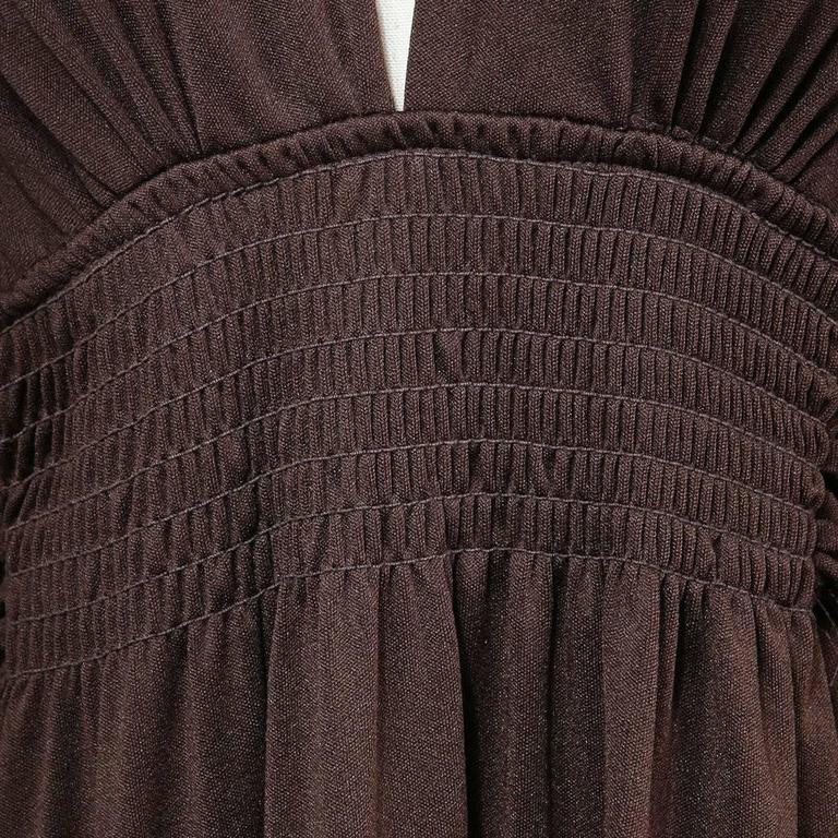 Ossie Clark Jersey Peasant Dress circa 1970s 3