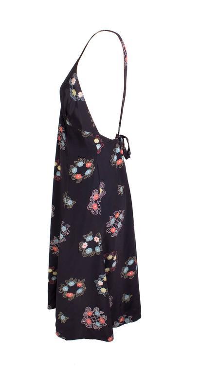 Ossie Clark Silk Chiffon Floral Print Dress circa 1970s 3