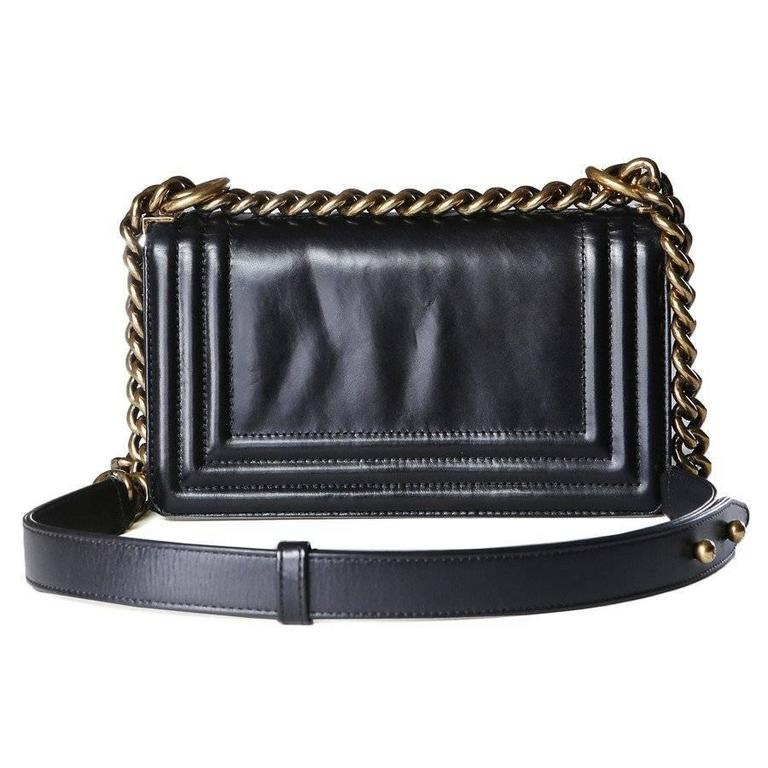 Black Chanel Leather 1st Edition Le Boy Bag from 2012
