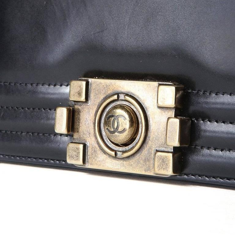Chanel Leather 1st Edition Le Boy Bag from 2012 In Good Condition In Los Angeles, CA