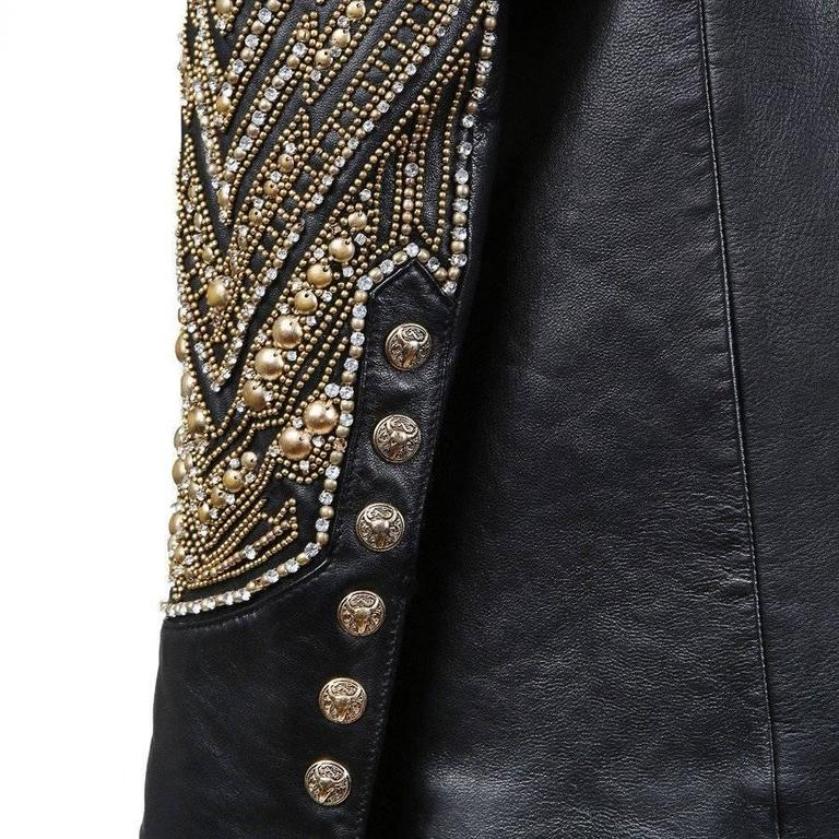Balmain Embellished Leather Jacket, Modern 3