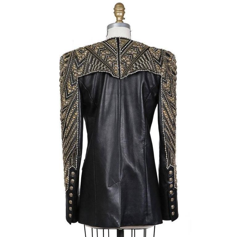 Balmain Embellished Leather Jacket, Modern 2