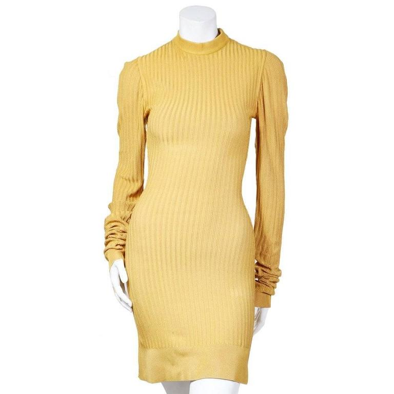 Alaia Ribbed Knit Dress and Cardigan circa 1980s 2