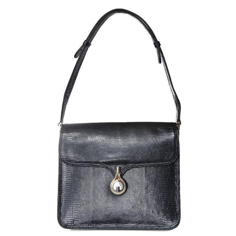 Gucci Lizard Shoulder Bag circa 1970s